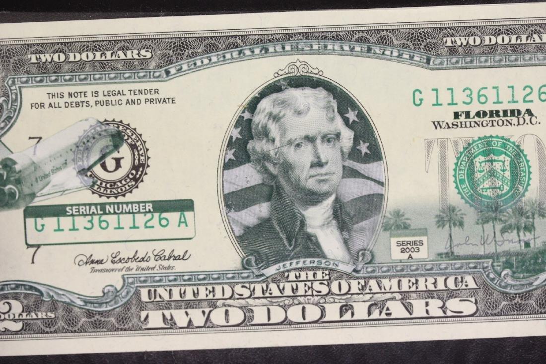 An Uncirculated Two Dollar Bill - 4