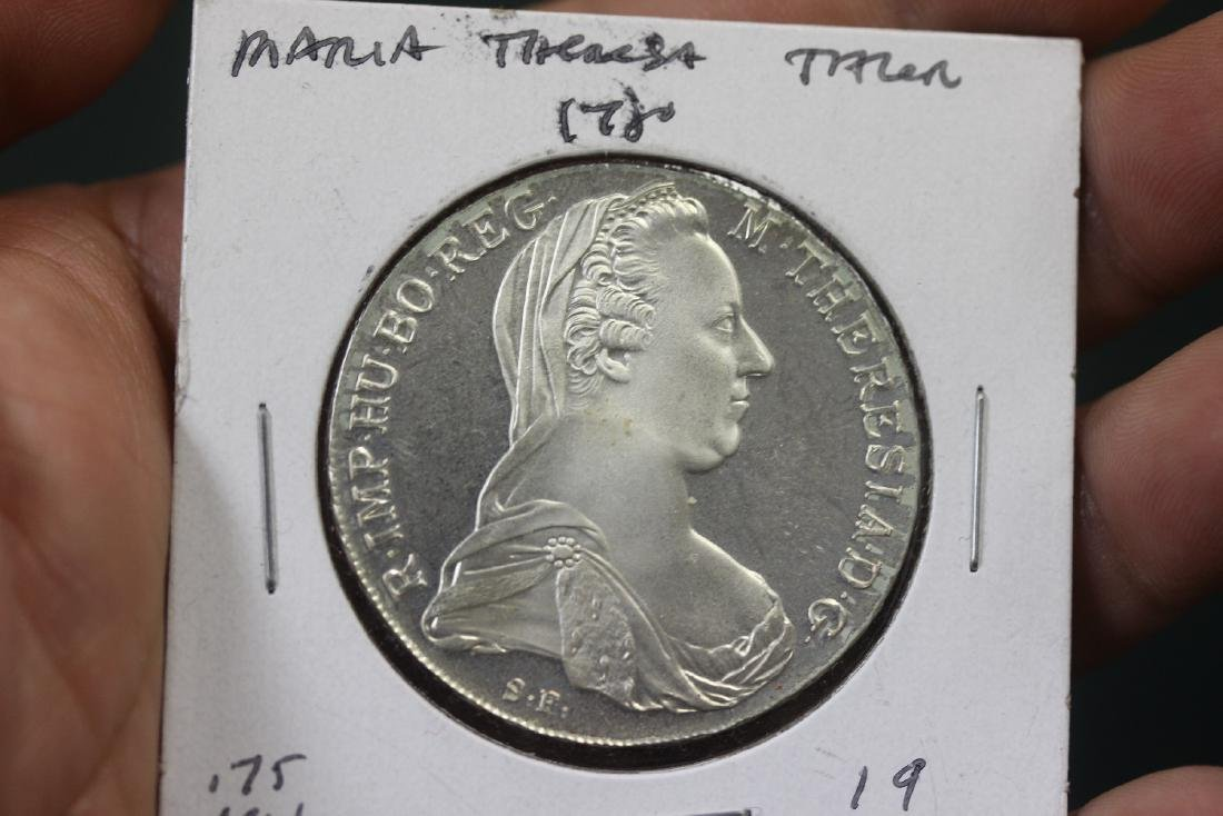 A Restrike of a 1780 Maria Theresia Silver Coin