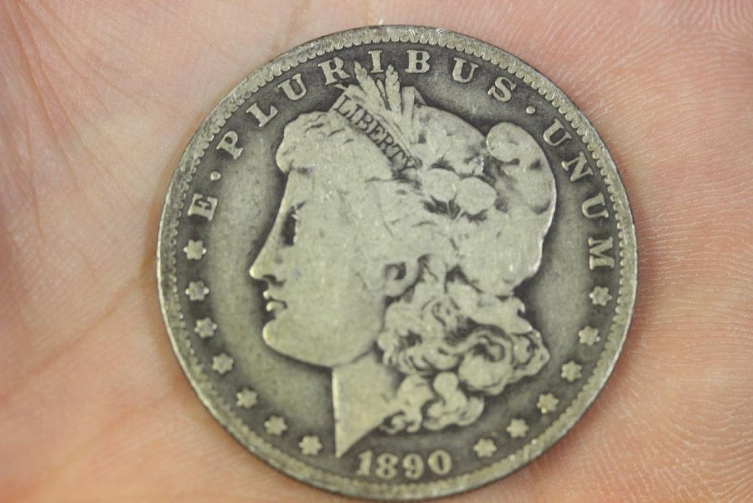 An 1890-O Morgan Silver Dollar
