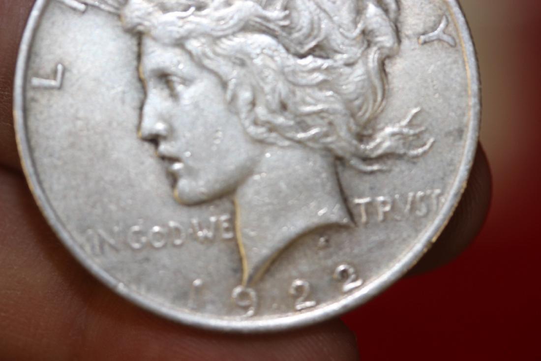 A 1922 Peace Silver Dollar - 7