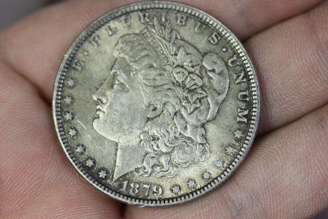 An 1879 Morgan Silver Dollar