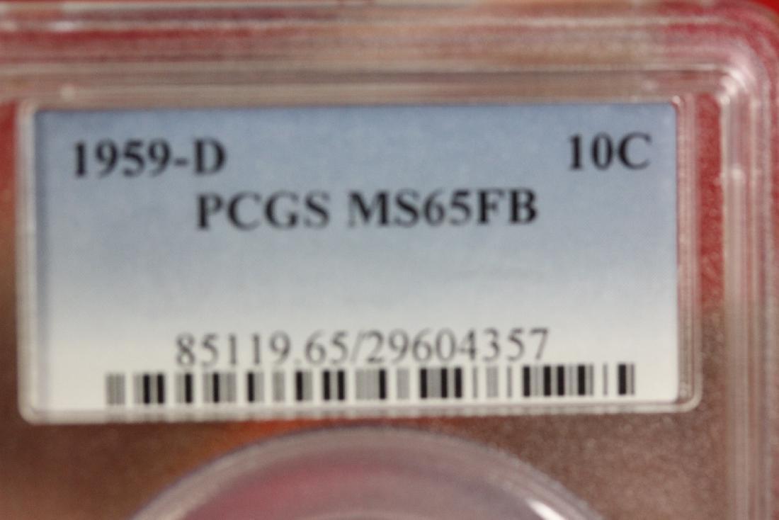 A Graded 1959-D Roosevelt 10 cents - 3