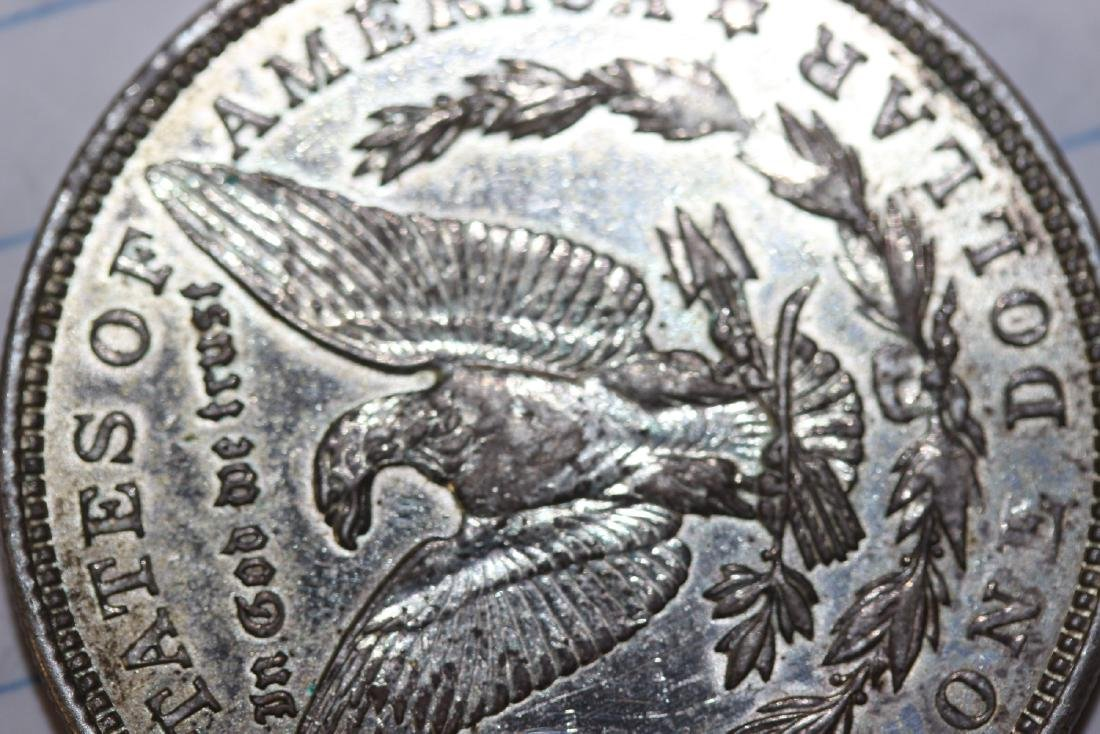 A 1921 Morgan Silver Dollar - 4