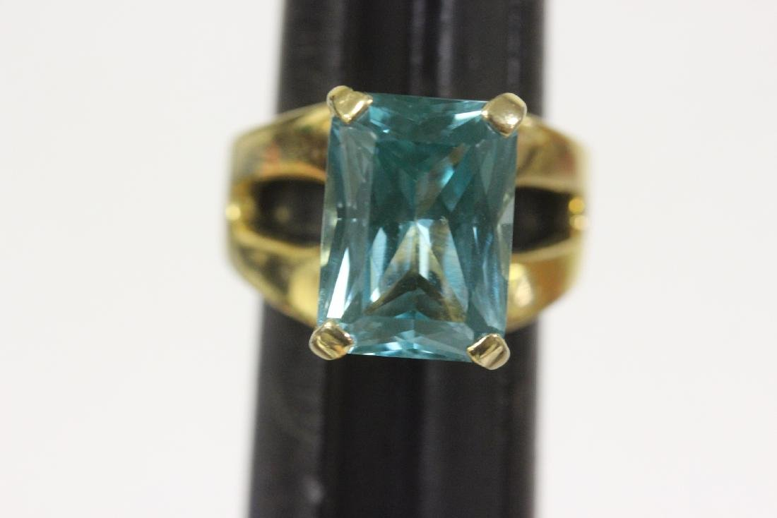 A Gold Over Sterling Ring