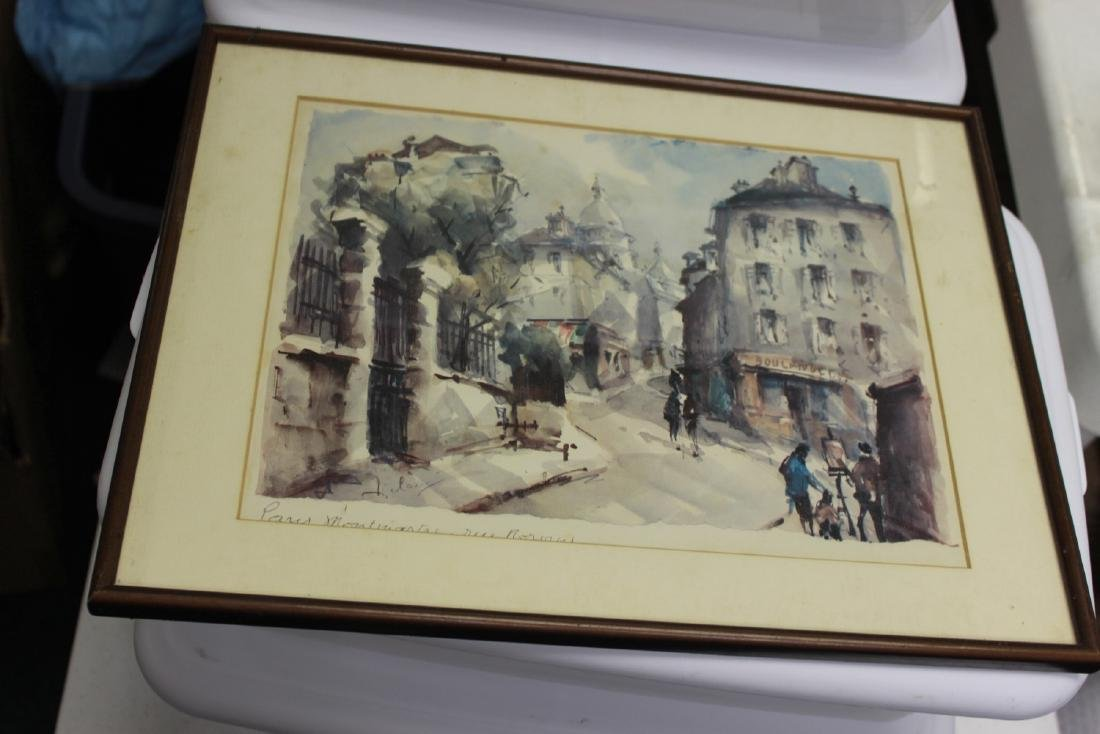 A Plate Signed French Print