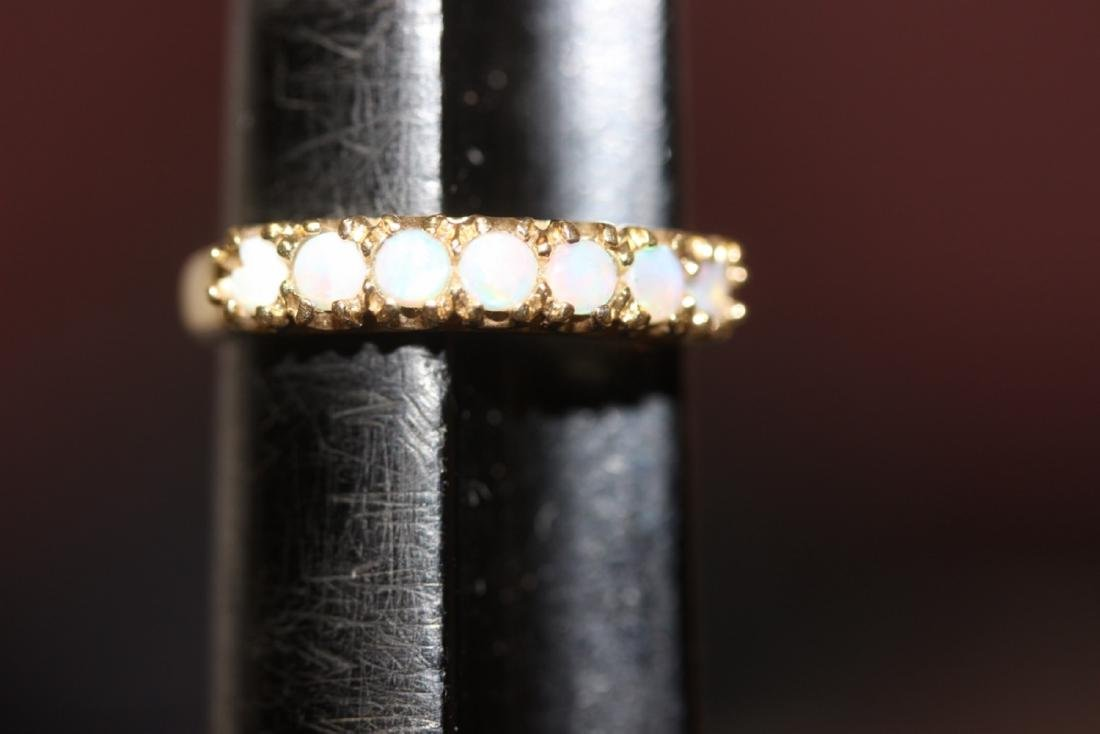 A 10Kt Gold and Opal Ring