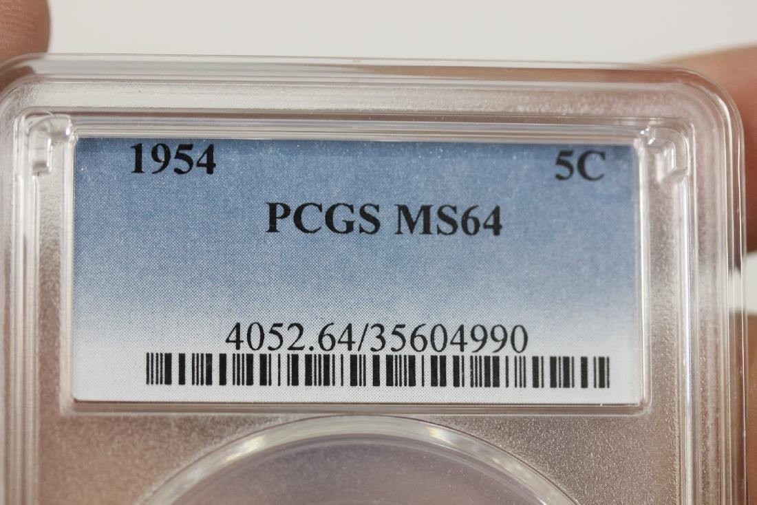 A Graded 1954 Jefferson Nickel - 3