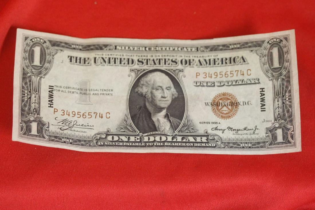 A Crisp 1935 Hawaii One Dollar Note