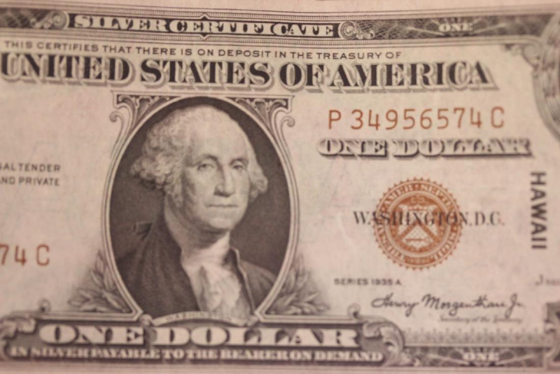 A Crisp 1935 Hawaii One Dollar Note - 3