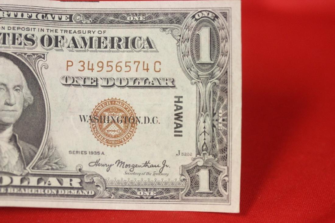 A Crisp 1935 Hawaii One Dollar Note - 4