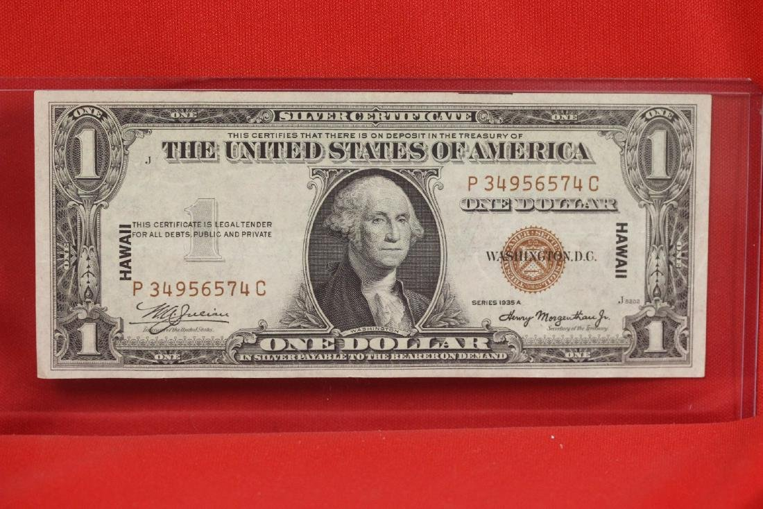 A Crisp 1935 Hawaii One Dollar Note - 6