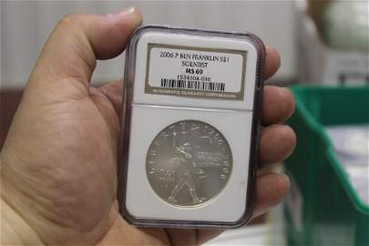 An NGC Graded 2006-P $1.00 Coin