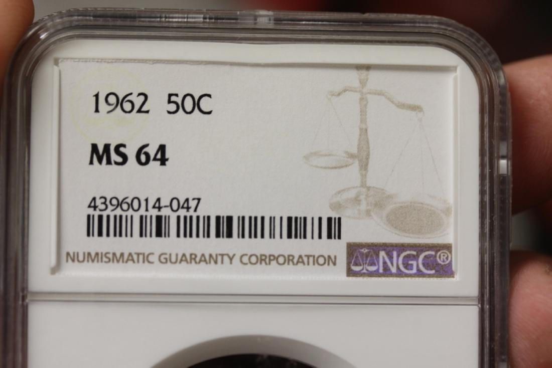 An NGC Graded 1962 50c MS64 Coin - 3