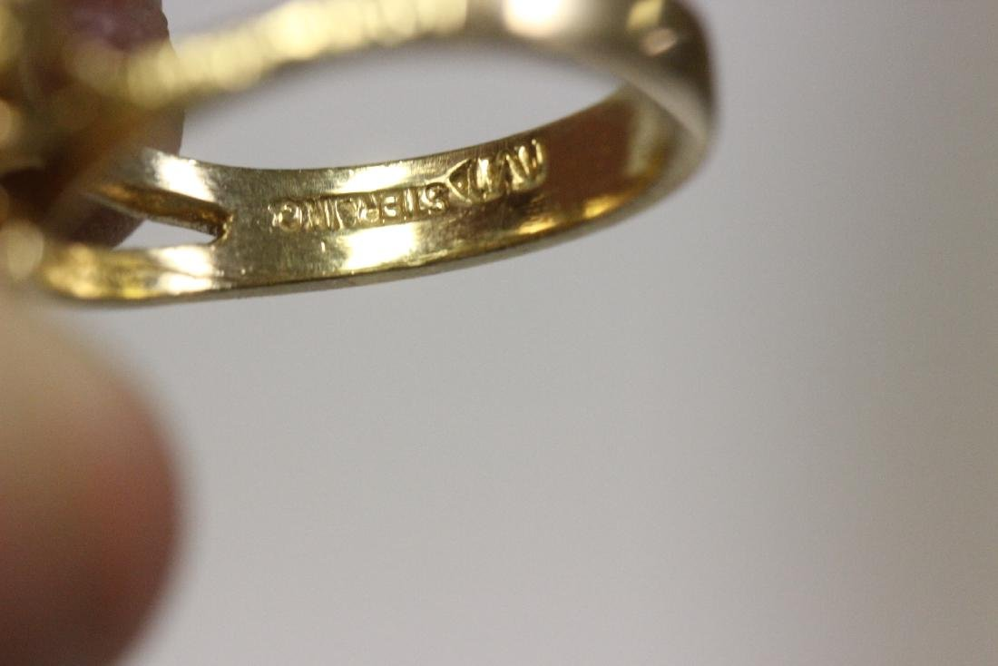 A Gold Plated or Sterling Ring - 6