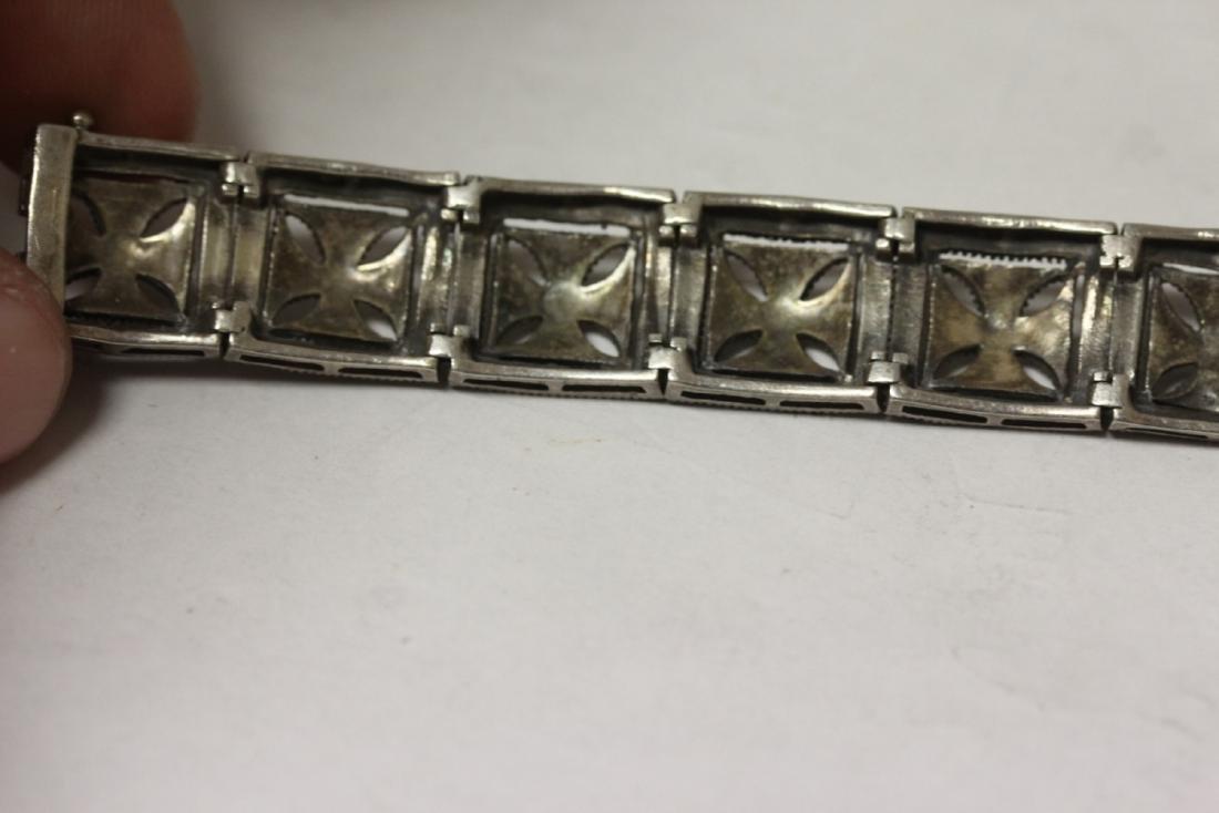 A Sterling Bracelet - 6