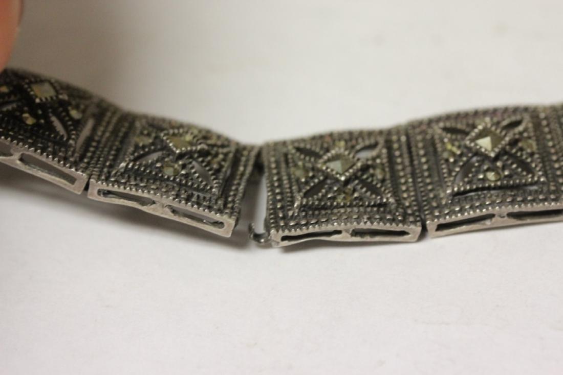 A Sterling Bracelet - 8