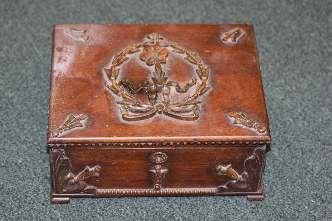 A Nicely Carved Wooden Box