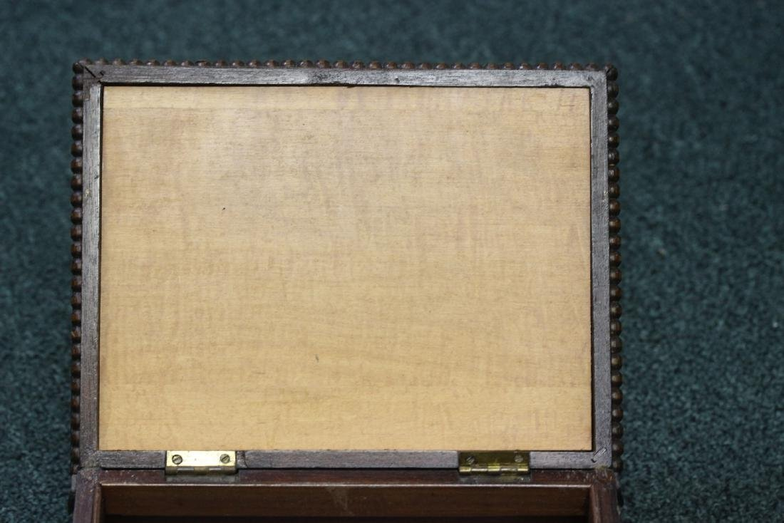 A Nicely Carved Wooden Box - 2