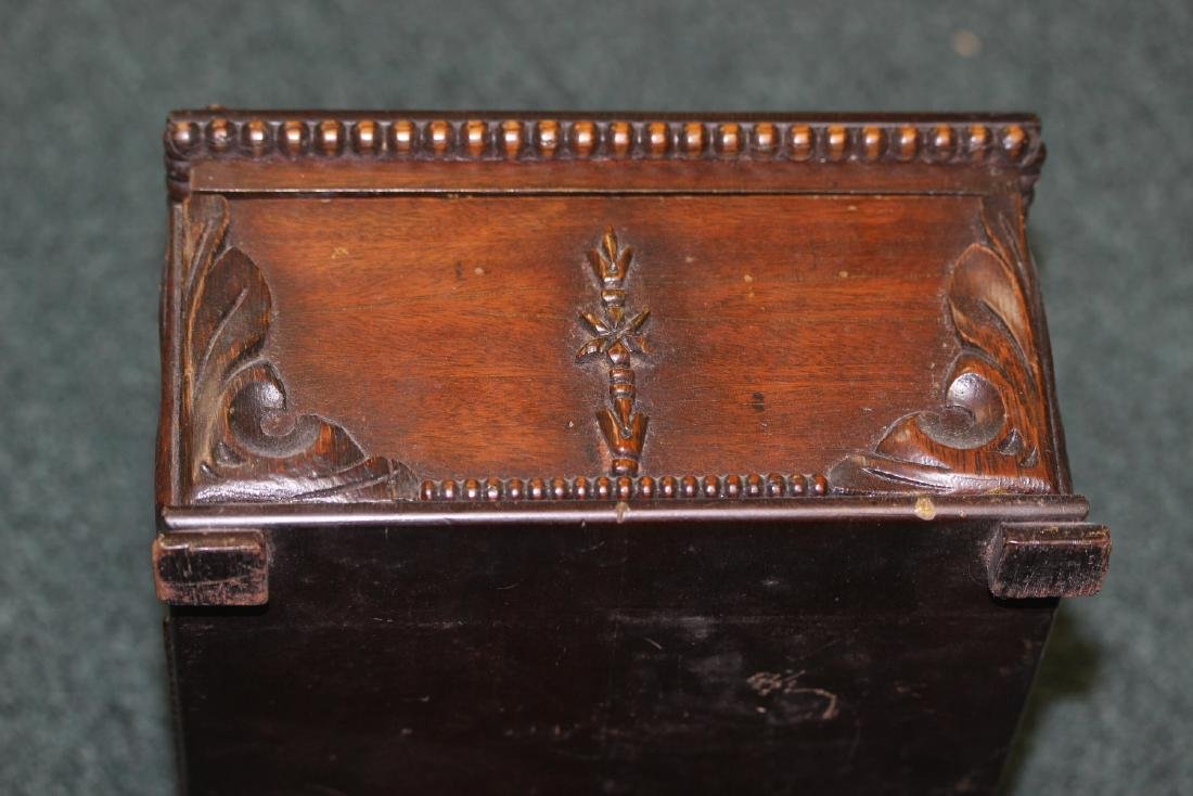 A Nicely Carved Wooden Box - 4