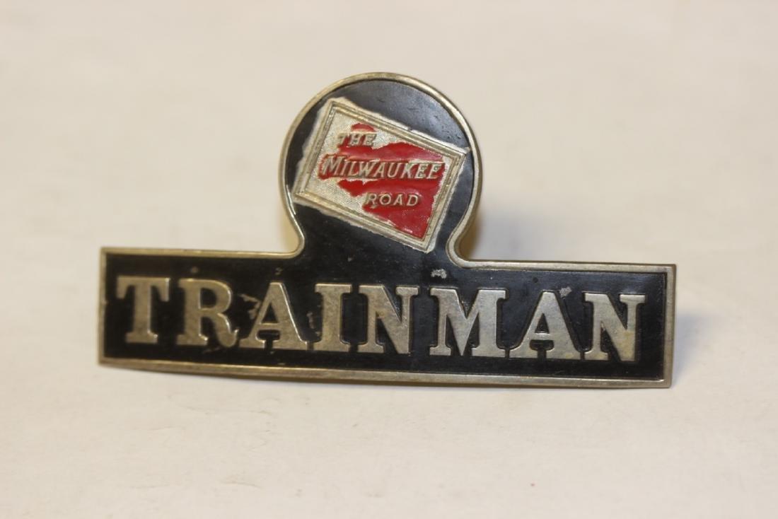 A Milwaukee Road Trainman Head Badge