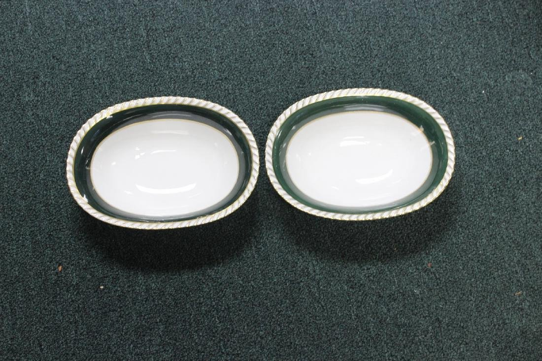 A Pair of German Franconia Oval Bowls