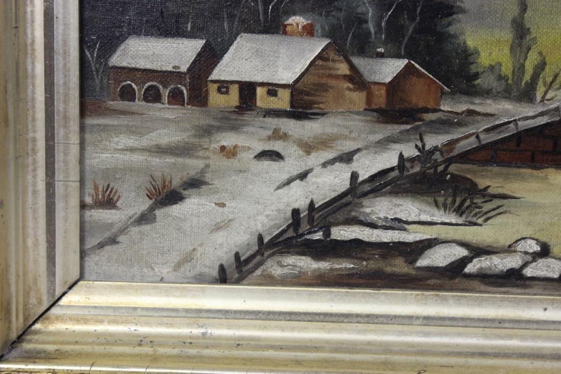 An Oil on Canvas of a Bridge - 5