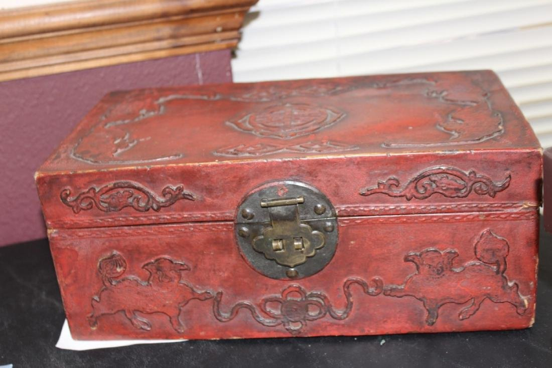 A Chinese Vintage Leather Box