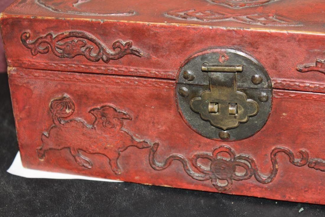 A Chinese Vintage Leather Box - 2