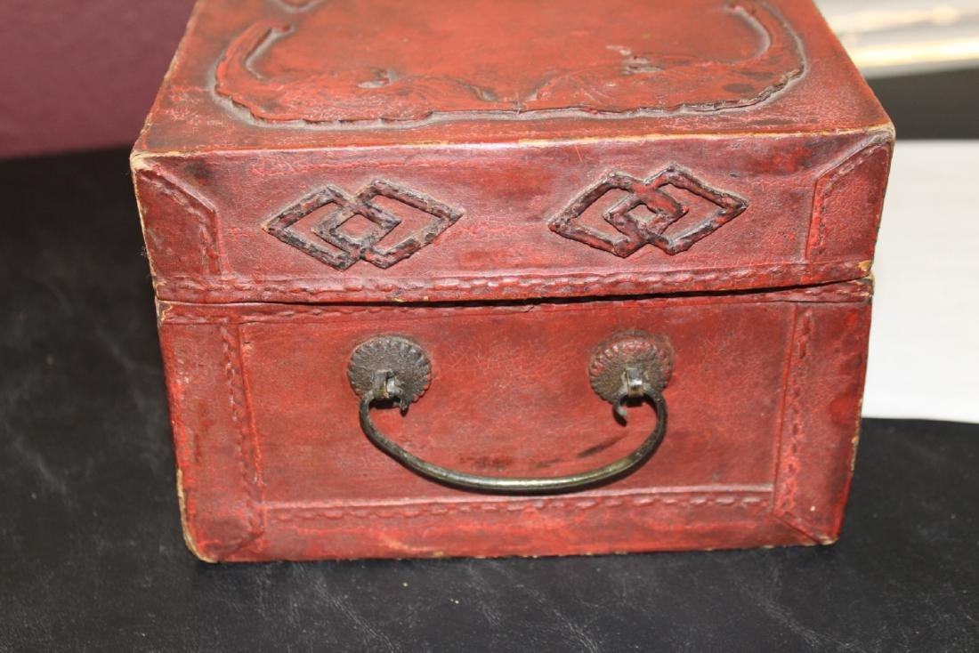 A Chinese Vintage Leather Box - 5
