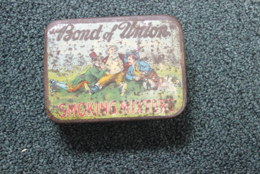"""A Vintage """"Bond of Union"""" Tobacco Tin"""