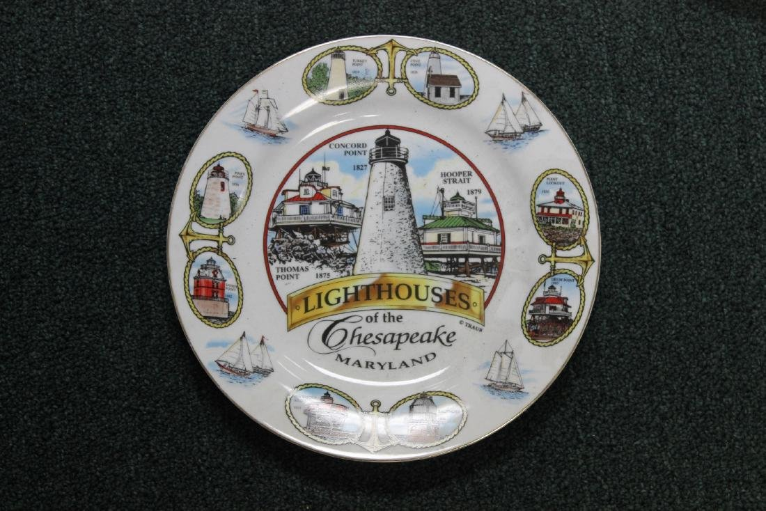 A Decorative Lighthouse Plate