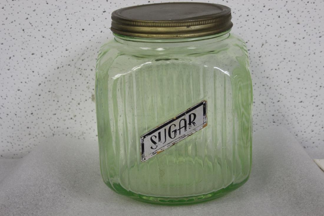 A Vaseline Glass Sugar Jar