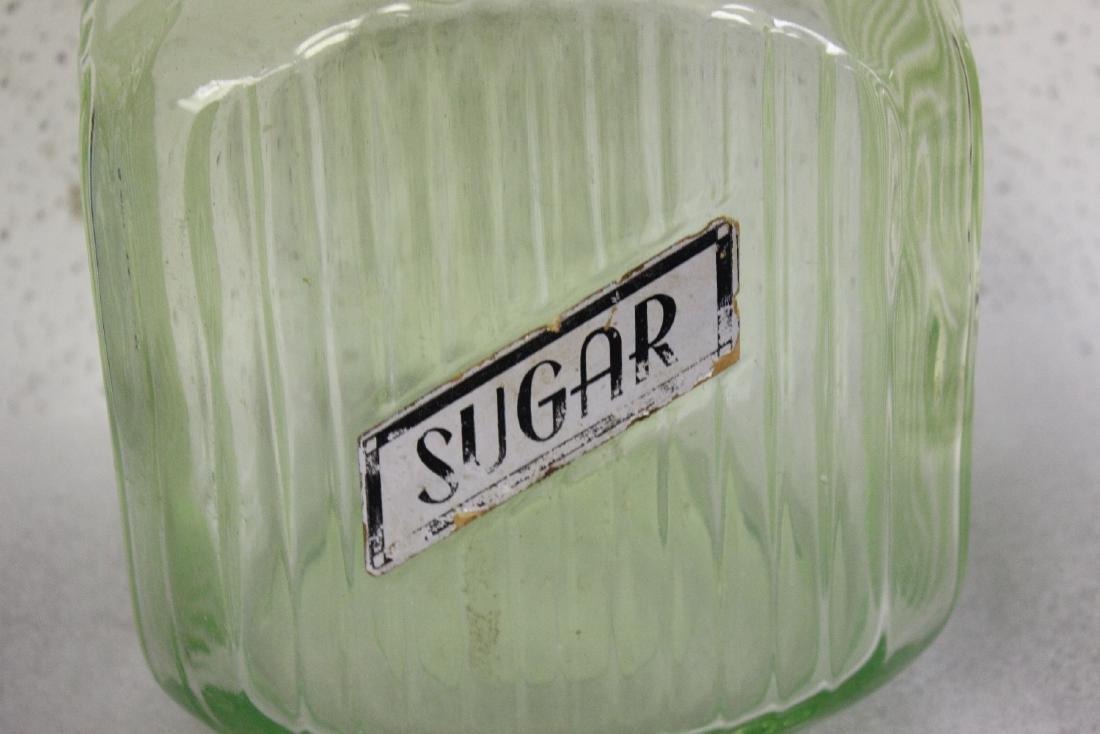 A Vaseline Glass Sugar Jar - 3
