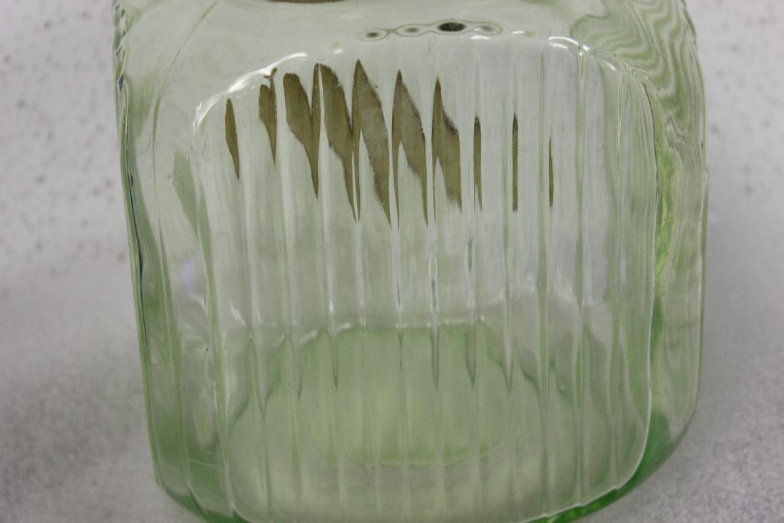 A Vaseline Glass Sugar Jar - 5