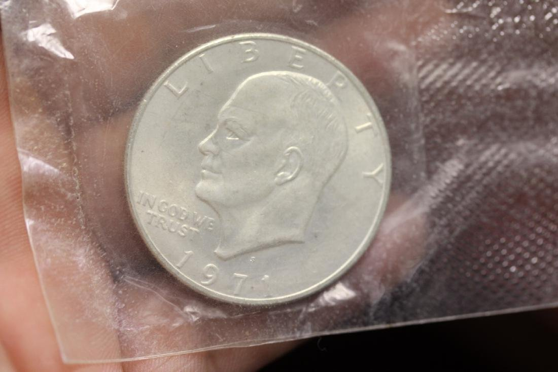 A 1971 Eisenhower Uncirculated Silver Dollar - 2