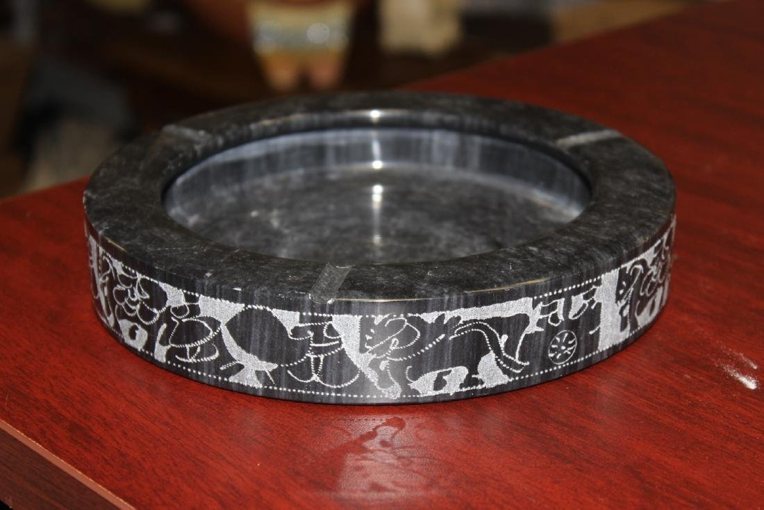 An Etched Marble Ashtray