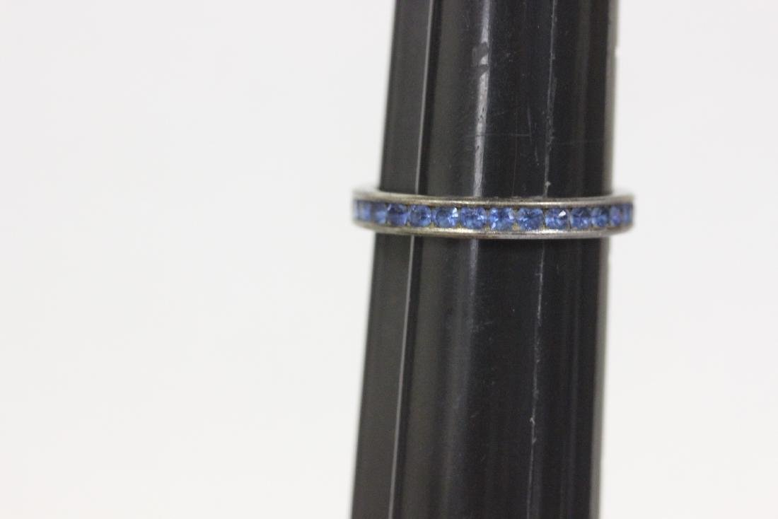 A Sterling and Blue Ring - 4