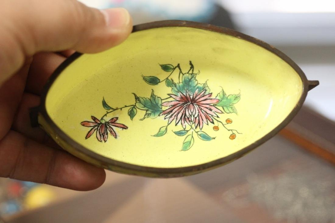 A Chinese Enamel on Copper Oval Bowl? - 3