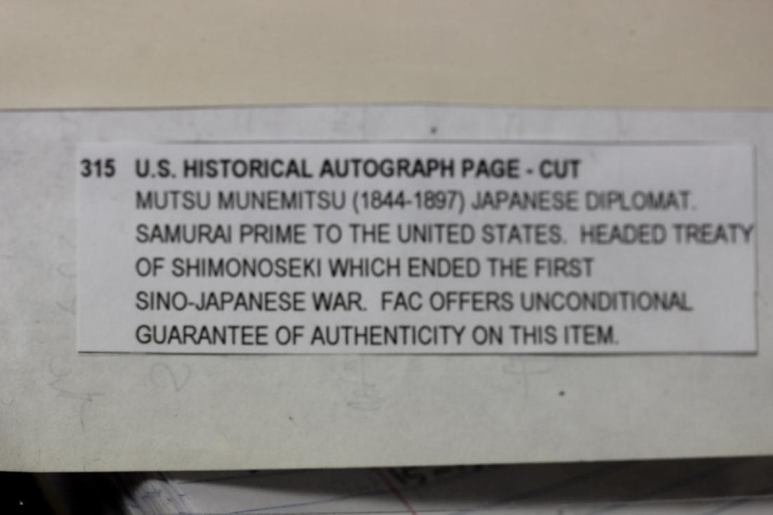 U.S.Historical Autograph Page-Cut - 2