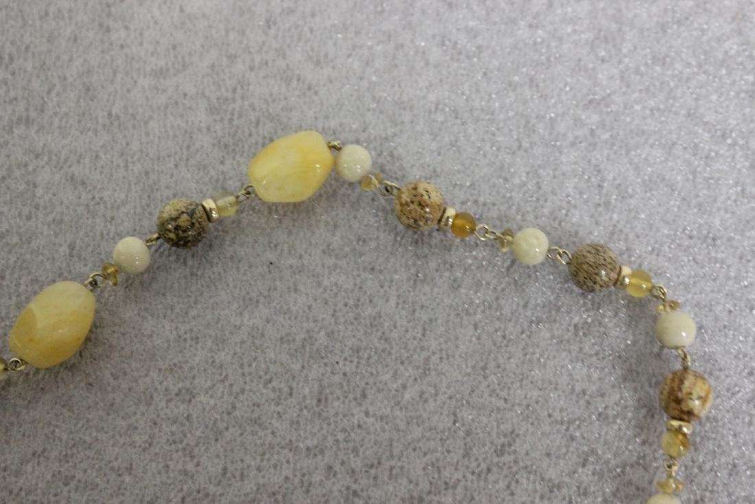A Jasper and 14Kt Gold Necklace - 2