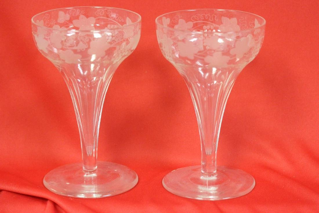 Set of 2 Carved Goblets