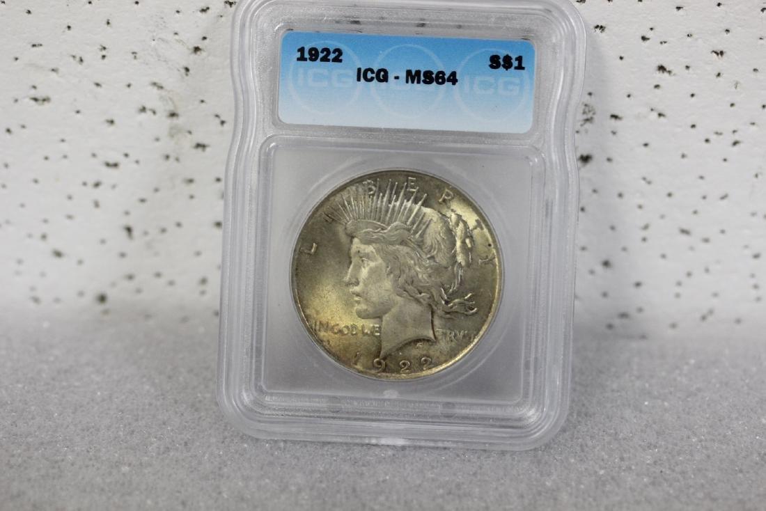 A 1922 Peace Dollar