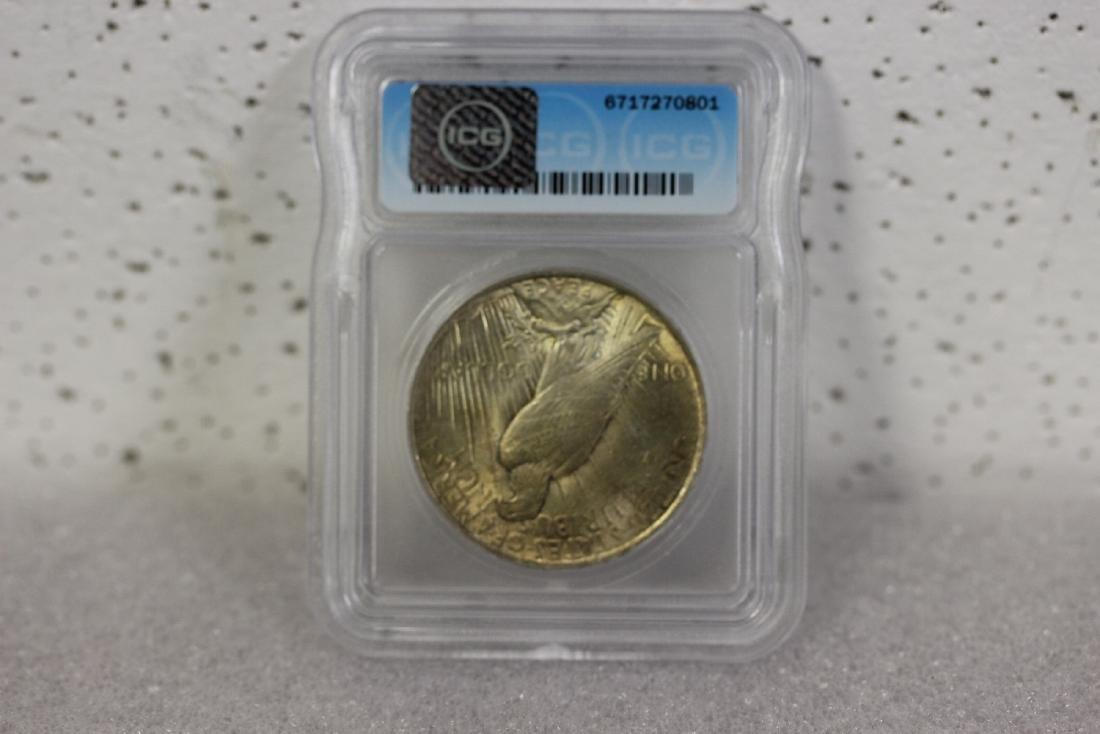 A 1922 Peace Dollar - 2