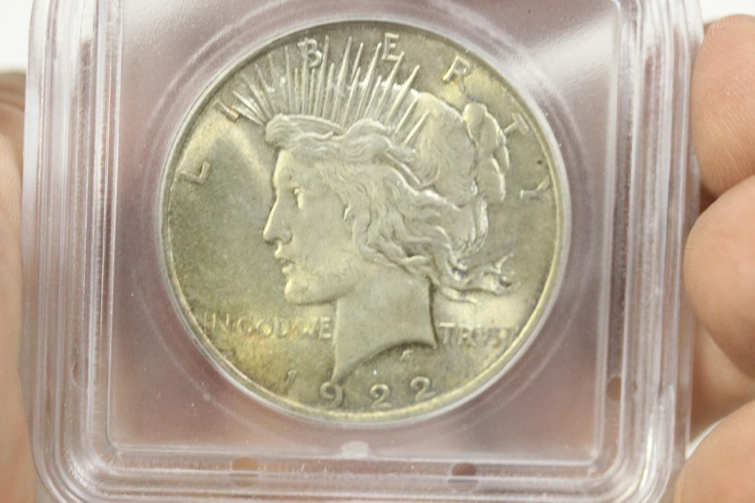 A 1922 Peace Dollar - 3