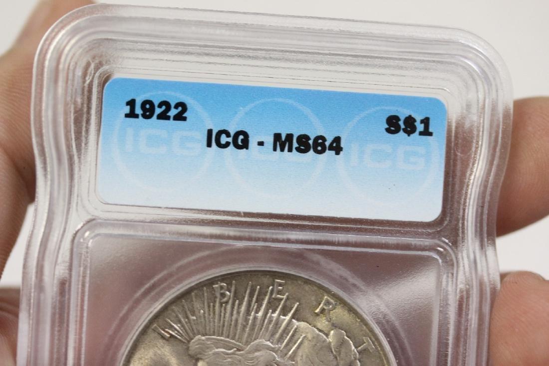 A 1922 Peace Dollar - 4