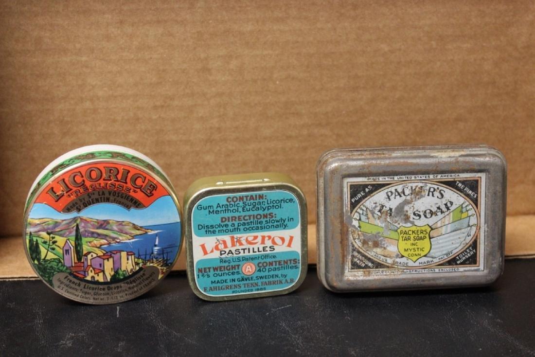 Lot of 3 Vintage Tins