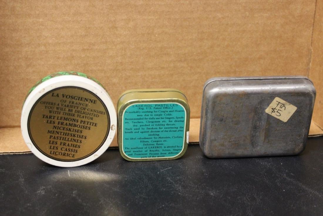 Lot of 3 Vintage Tins - 2