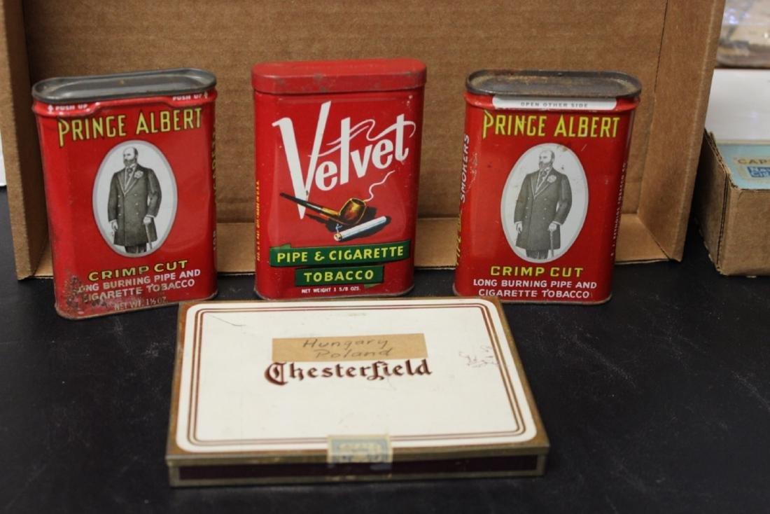 Lot of 4 Vintage Tobacco Tins