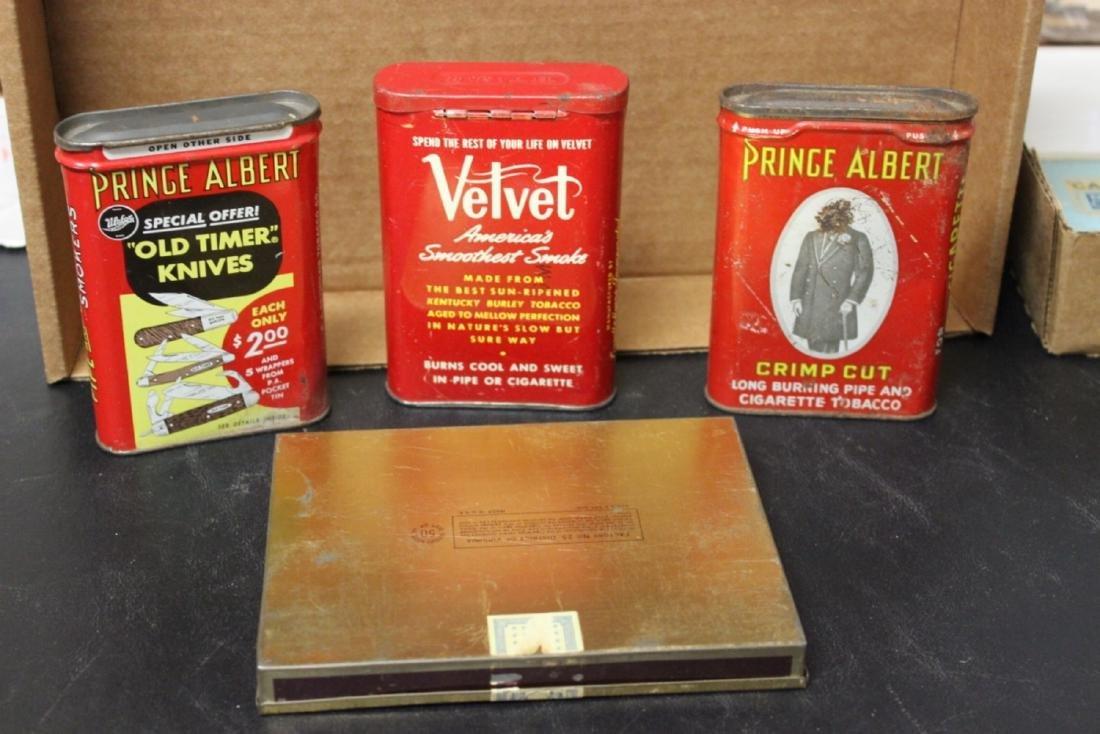 Lot of 4 Vintage Tobacco Tins - 2