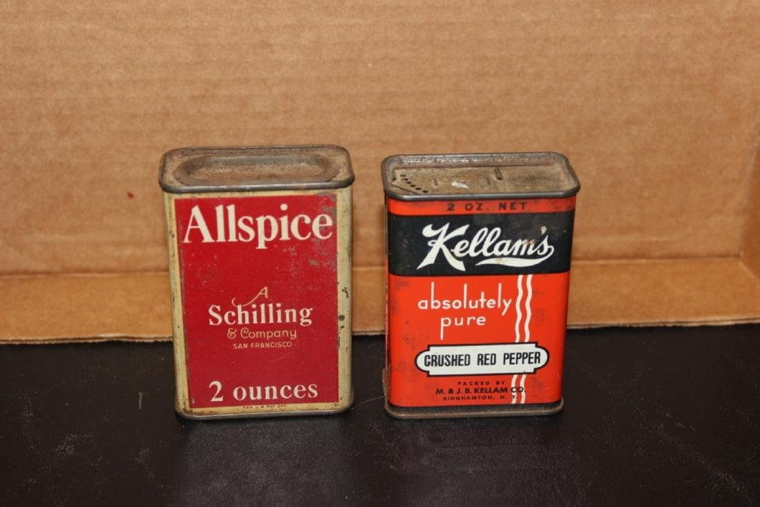 Lot of 2 Spice Tins